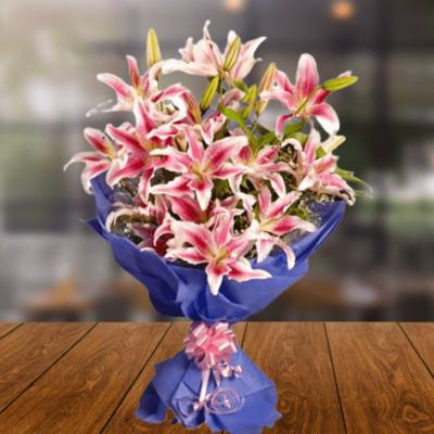 Glamorous Pink Lilies