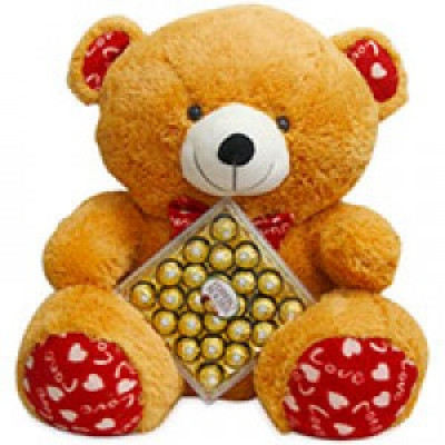 16 Pcs Ferrero Rocher Chocolate Box with cute teddy