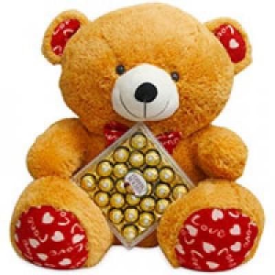 16 Pcs Ferrero Rocher Chocolate Box with cute teddy