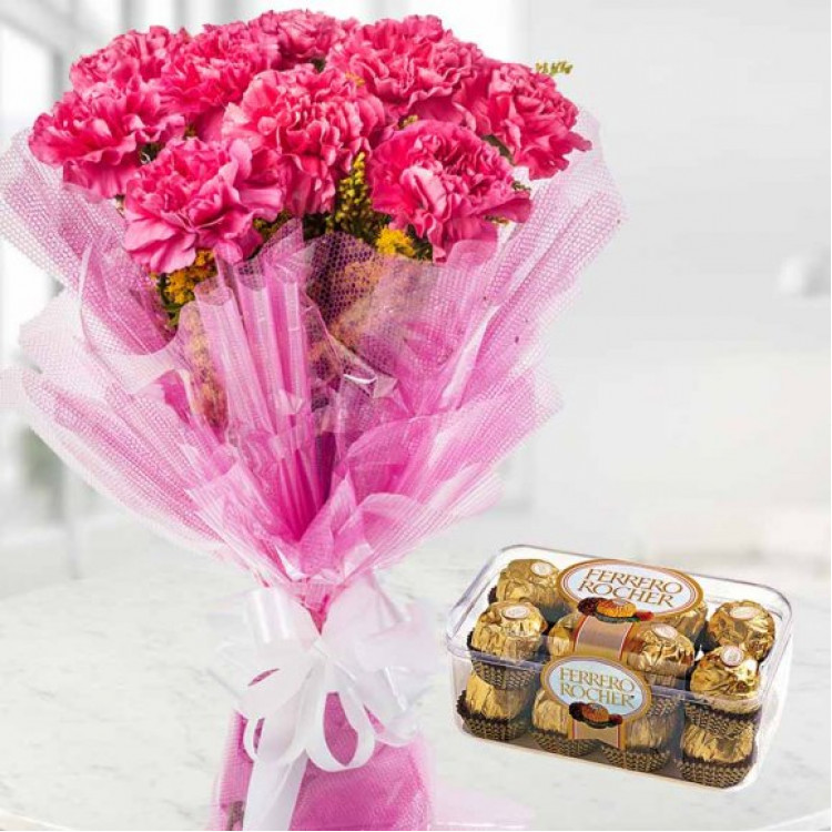 Absolute Delight – Ferrero Rocher & Carnations