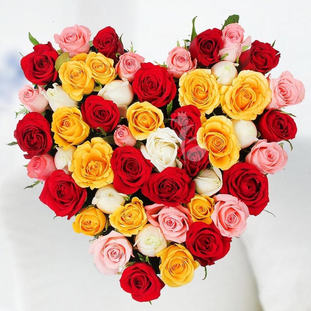 Flower delivery in pune 199 pune florist send flowers to pune loving heart v izmirmasajfo
