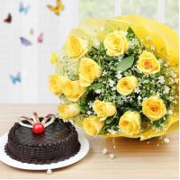 Choco Yellow Rosey Delight