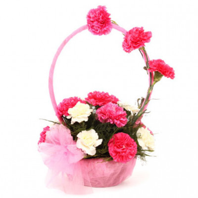 Splendid Carnation Basket