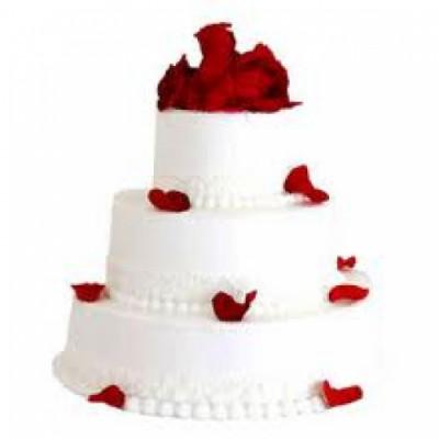 3 Tier Vanilla cake