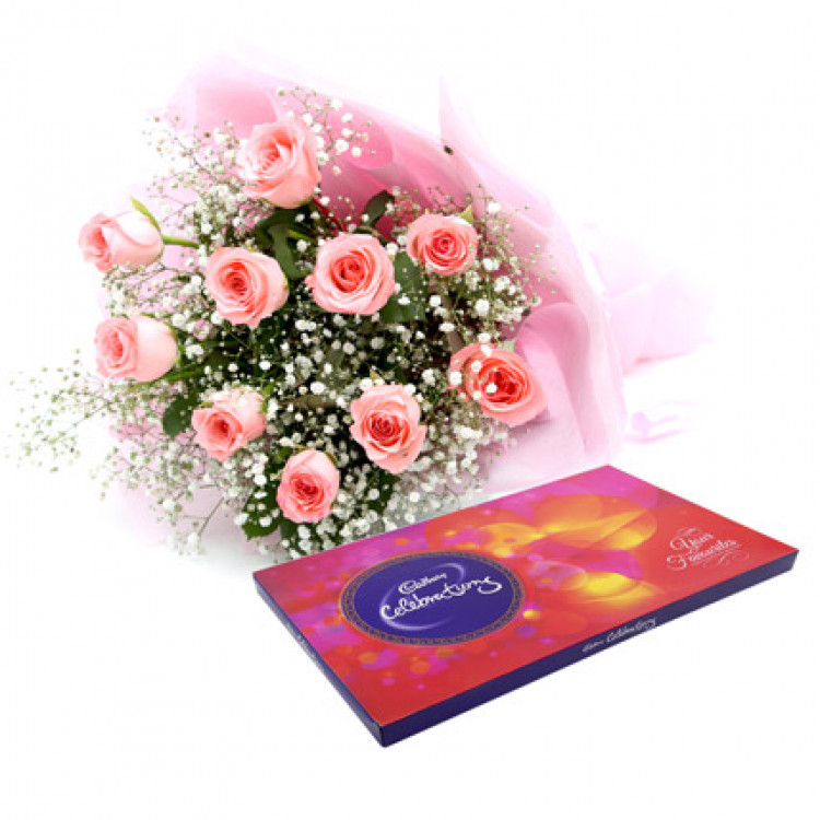 Celebrations With Pink Roses
