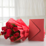Mesmerizing Red Roses with Greeting Card