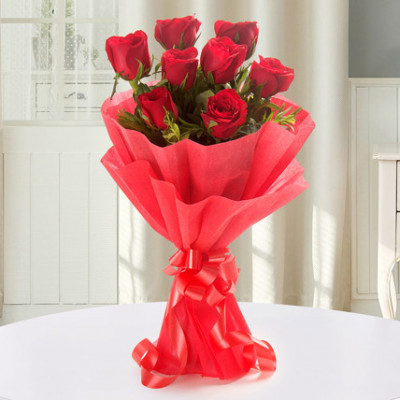 Exquisite 8 Red Roses