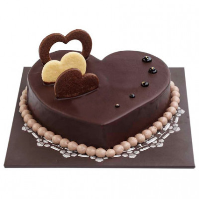 Chocolate Hearts Cake