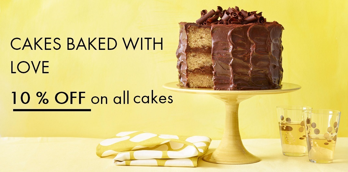 Freshly & Flavourful Cakes delivered at your doorstep