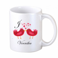 Two Loving Birds Coffee Mug