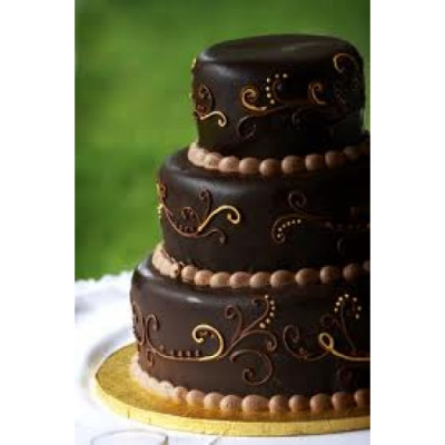 3 tier chocolate tower cake(6 kgs)
