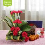 Rakhi Carnations Beauty