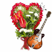 GUITARIST COMBO RED ROSES