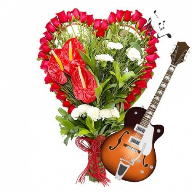 GUITARIST COMBO RED ROSES