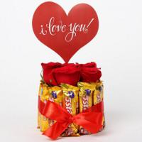 Red Roses & 5 Star Love Arrangement