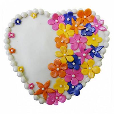Flower Heart Cake
